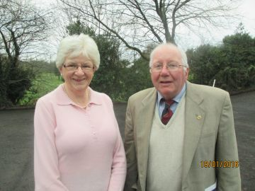 Ladies President Audrey Hodge with Men's President Paul Gallagher