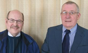 [L - R] Club Secretary, Gerry McGonigle with Club Member, Michael Cooney