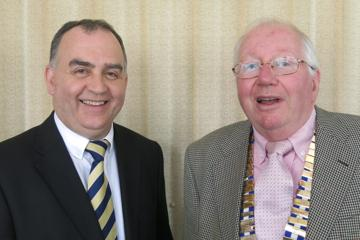Brendan Hegarty [left] with Probus President Paul Gallagher
