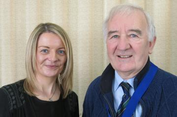 Anthea with Probus Vice-President, John McCandless