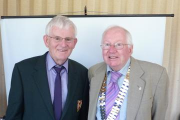 Billy Pollock with Probus President PaulGallagher
