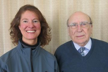 Janice with Club Member, retired Veterinary Surgeon, Pat McParland