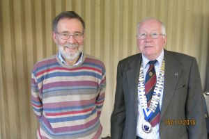 Speaker, Ralph Sheppard with Probus President, Paul Gallagher
